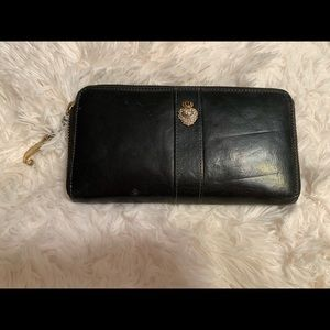 Black leather juicy couture wallet.